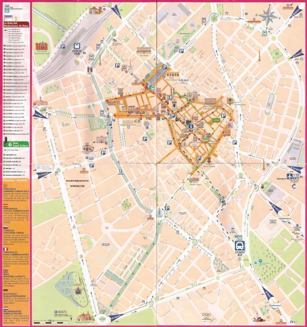 Карта города Реус и его достопримечательности