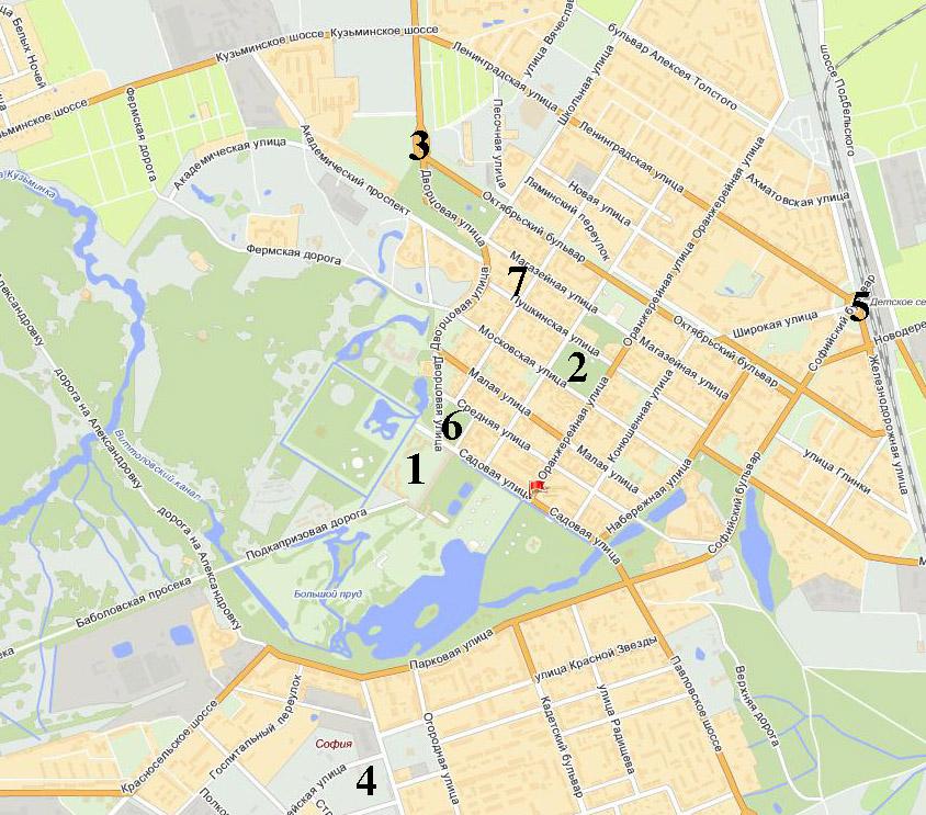 Пушкин. Карта туриста