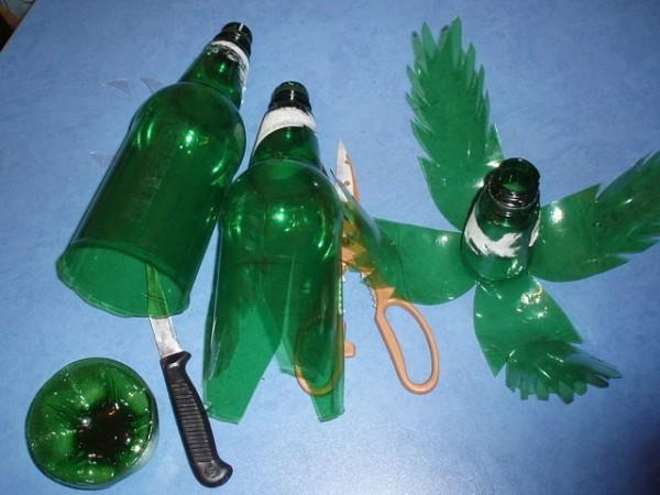 Пальма поделка из пластиковых бутылок 71
