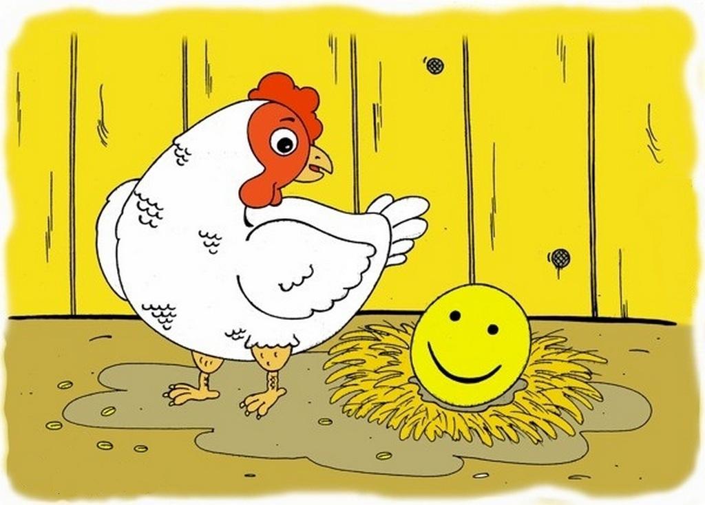 Курица рисунок смешной