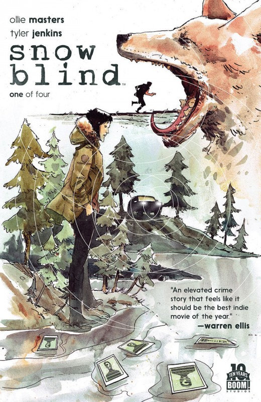 Обложка графического романа «Снежная слепота»