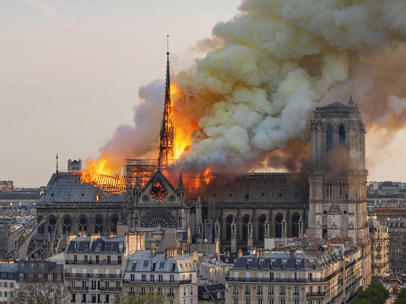 Пожар в Соборе Парижской Богоматери, апрель 2019г.