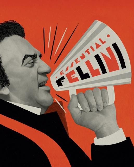 Обложка издания Essential Fellini