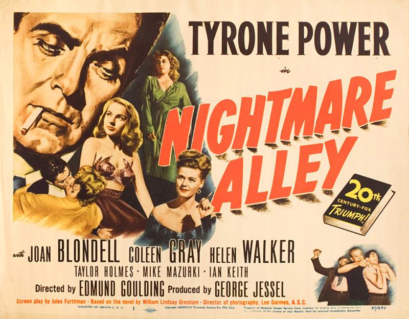 """Постер фильма """"Аллея кошмаров"""" 1947 г."""