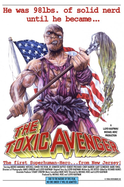 """Постер первой части """"Токсичного мстителя"""" 1984г"""