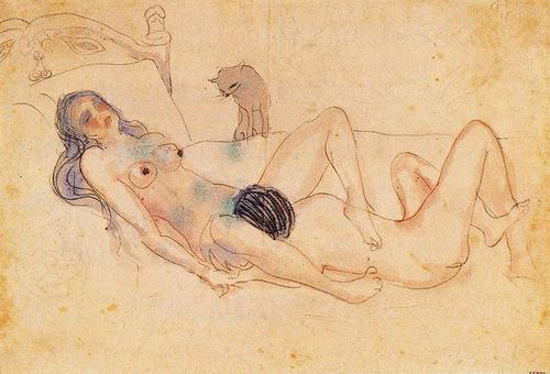 Fine art nude drawing