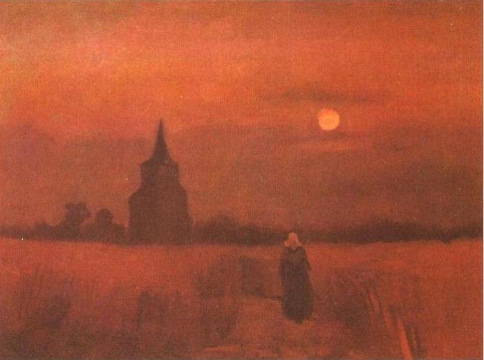 старая башня в поле Ван Гога