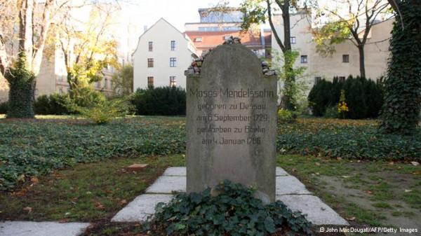 Moses Mendelsohn Grabstein