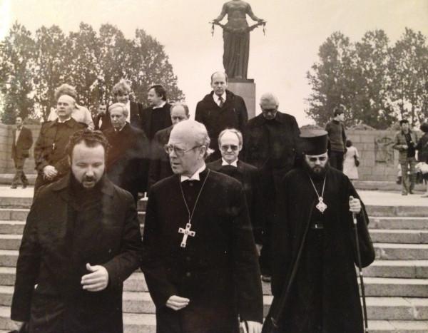 Пребывание в Ленинграде делегации совета евангелистской церкви ФРГ. 1982