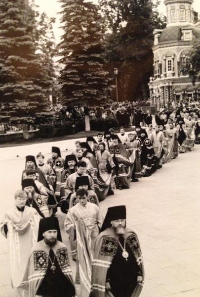 Поместный собор 1990. Шествие на заседание