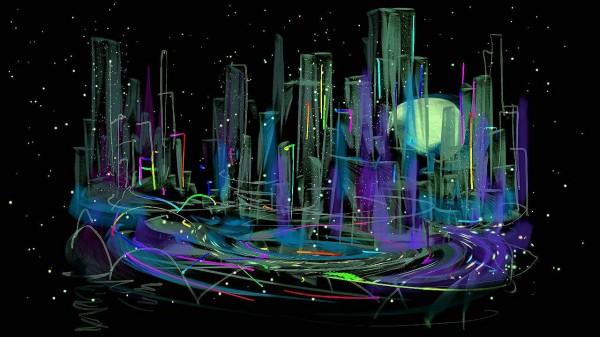 Сити в ночи своей