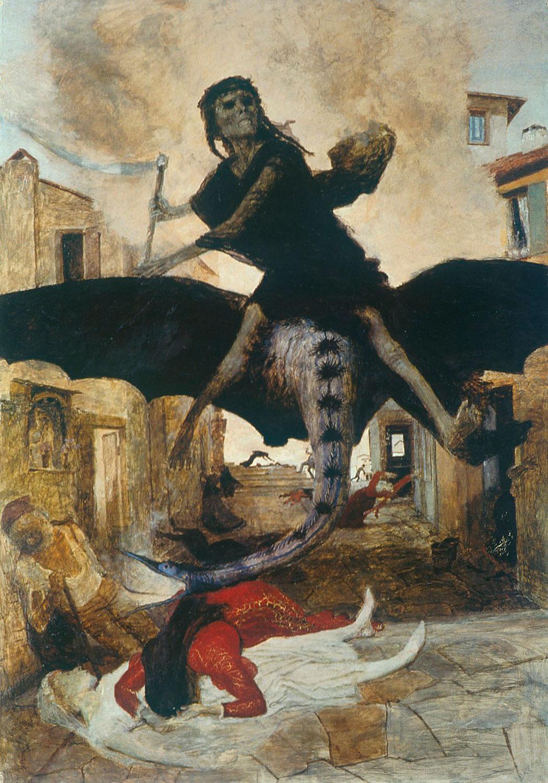 Арнольд Бёклин, «Чума», 1898