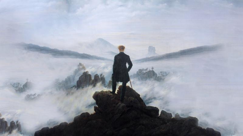 """К.Д.Фридрих. """"Странник над морем тумана"""""""