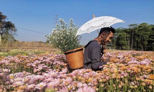 Самая большая плантация цветов а Исане