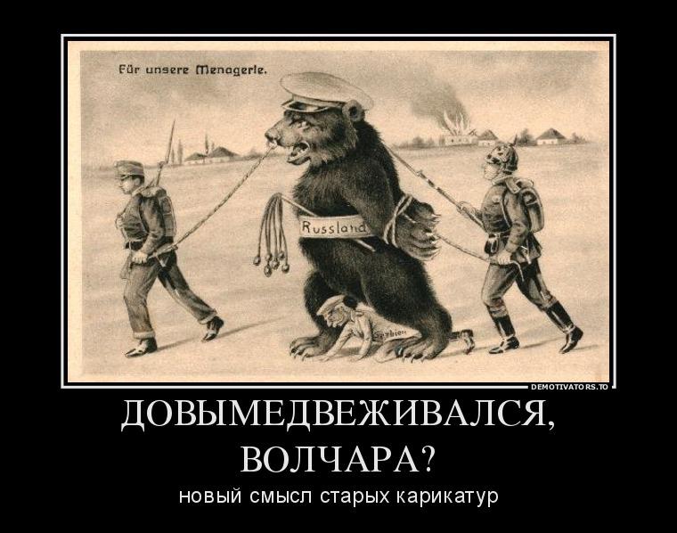 Блог пользователя  Борис Тюменцев: 872293_dovyimedvezhivalsya-volchara_demotivators_to
