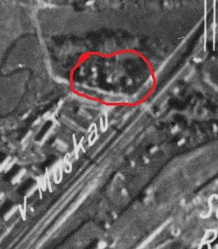 Краснозарьевский проезд на снимке 1943 года.