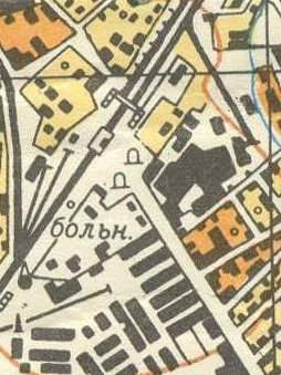 Больница на карте 1964 года.