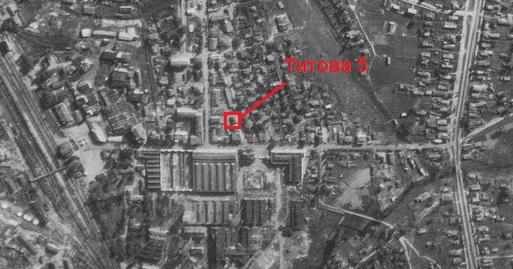 Титова 5 на карте 1942 года.