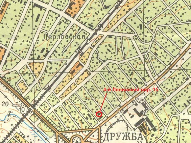 4-й Ленинский пер 15 на карте 1964 года.