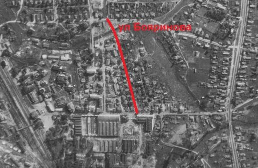 ул Бояринова на снимке 1942 года. Где-то в её конце дом 24.