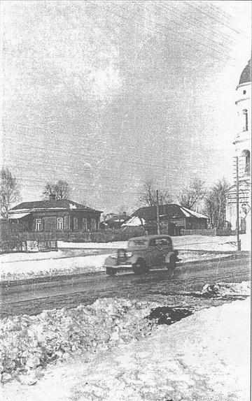 Фото А А Бусова, примерно 1936-1937гг Ярославское шоссе, вид в сторону области. Видна Эмка ГАЗ-М1, выпускаемая с 1936 по 1943 год.