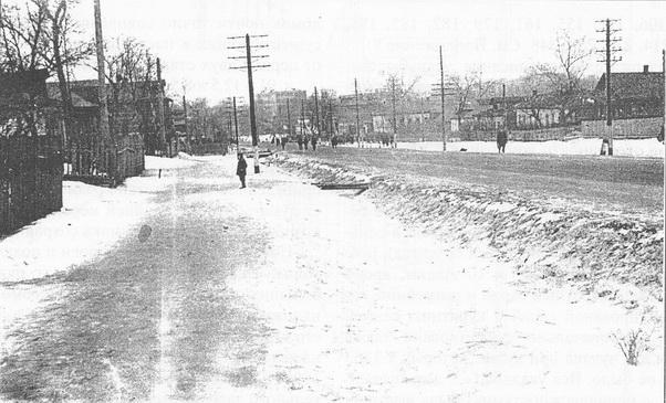 Фото А А Бусова, примерно 1936-1937гг Ярославское шоссе, вид в сторону Москвы.