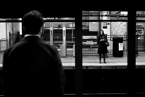 subway eye contact