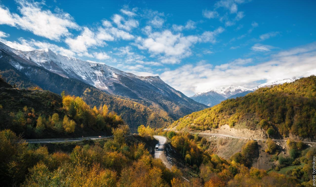 Дороги Верхней Сванетии, Грузия