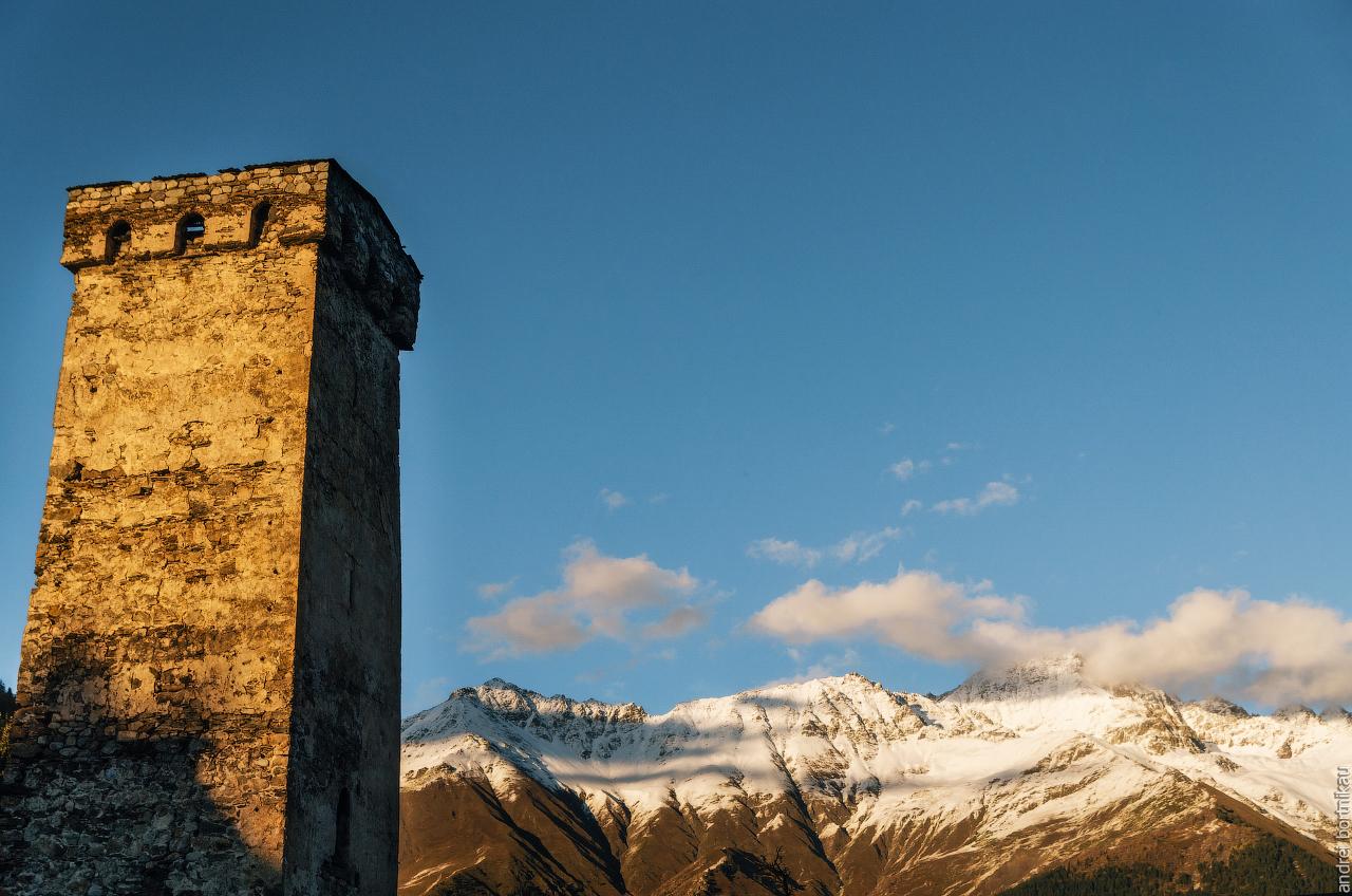 Сванская башня, Местиа, Верхняя Сванетия, Грузия