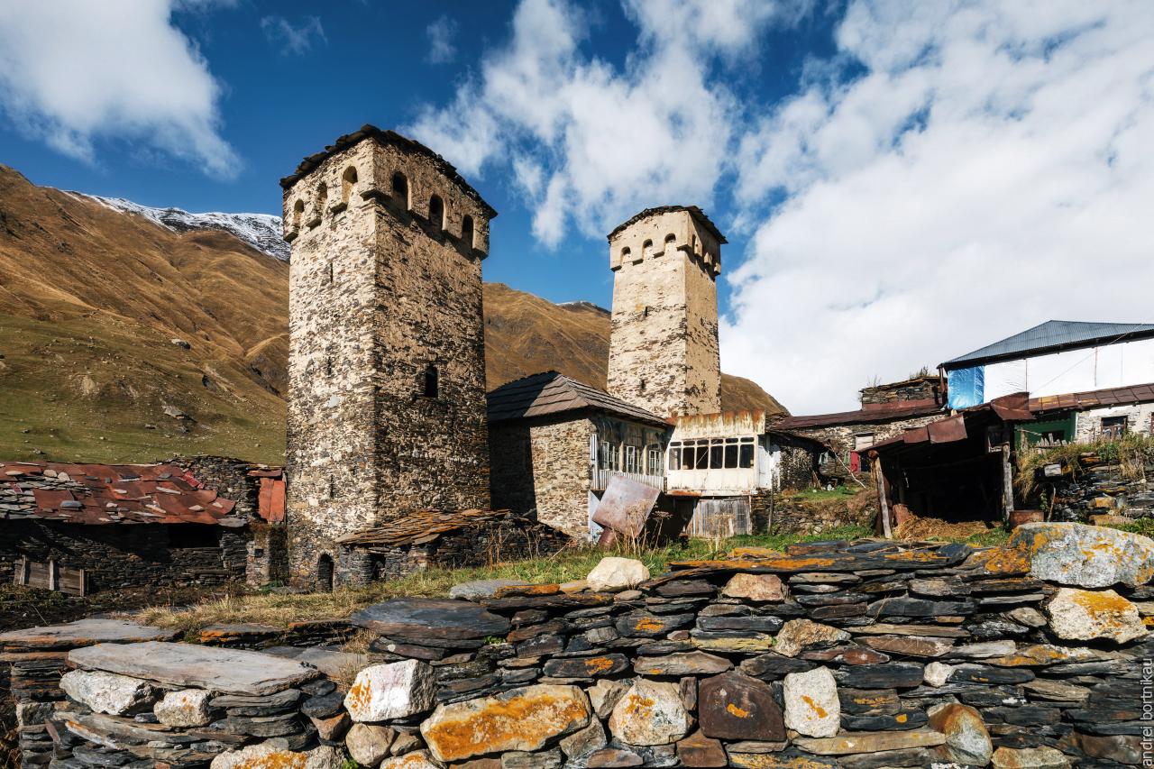 Сванскике башни в Ушгули, Верхняя Сванетия