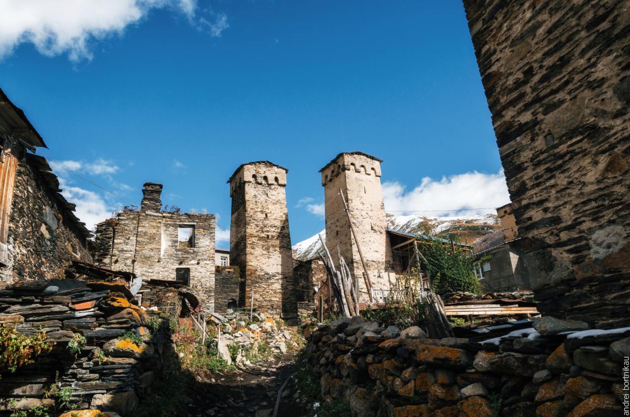 Сванские башни в Ушгули, Верхняя Сванетия