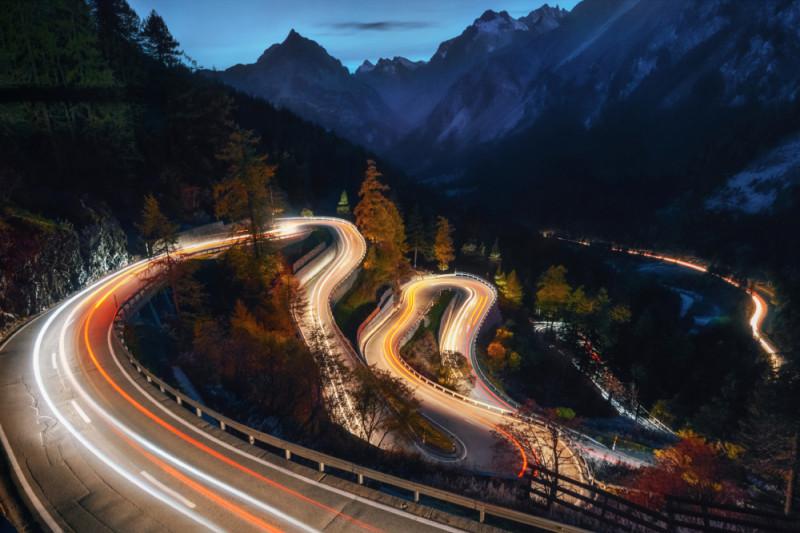 Перевал Малоя, Швейцария