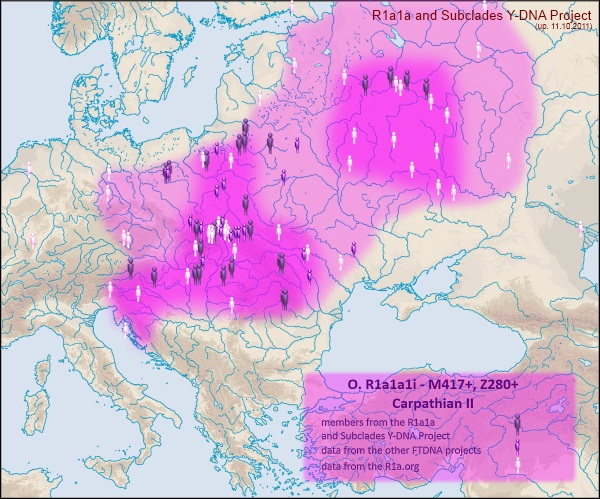 Огляд поширення гаплогрупи R1a в Галичині