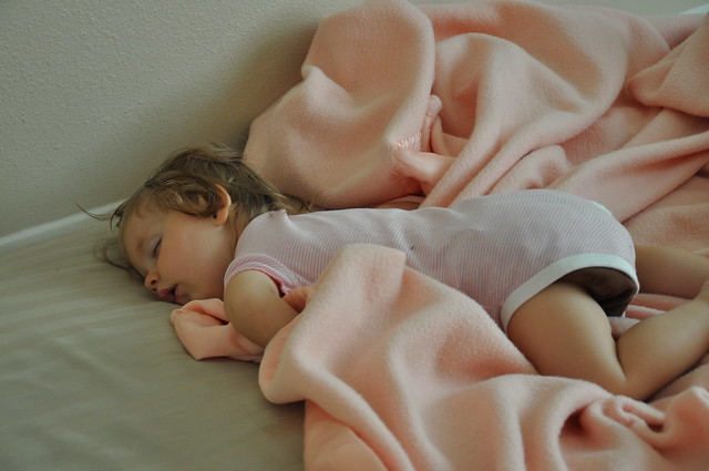 Lillia asleep in bed