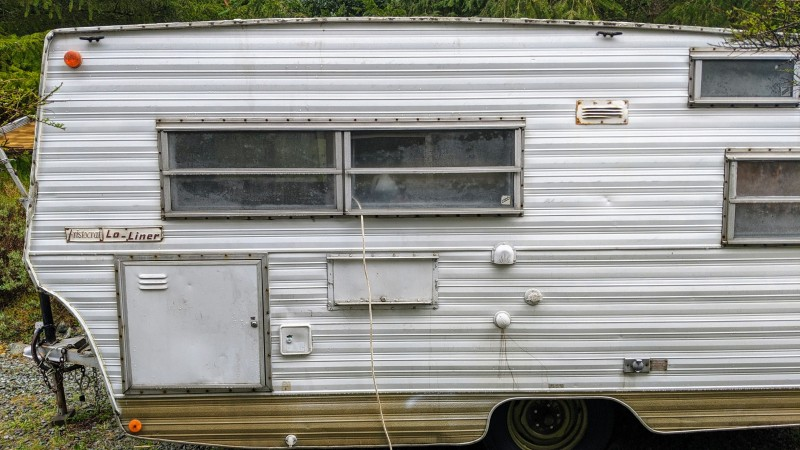 We bought a vintage camper. Now we can have overnight guests! Considering its age, it's in GREAT condition.