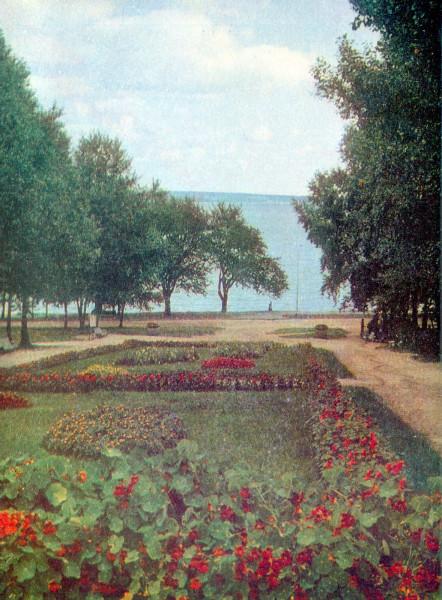 764014 Вид на озеро Онего с Пушкинской улицы