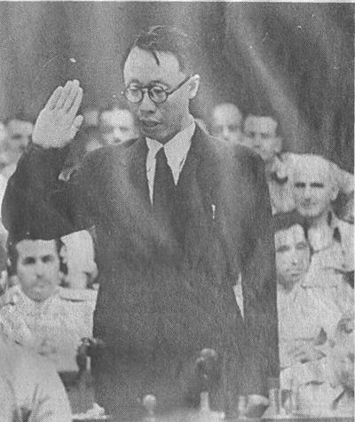 Пу И и Пермяков на Токийском суде