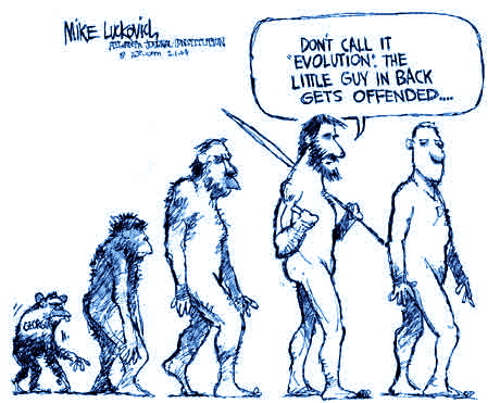 evolution cartoon