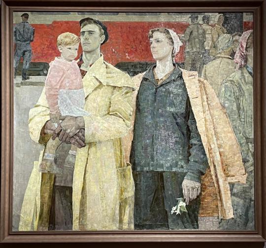 «Трудовые люди Кузбасса» Алексея Гландина (урожденного Андрео Энгляди, итальянца  по отцу), 1964.