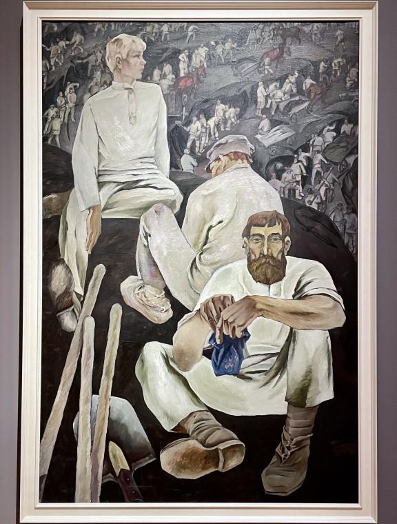 """""""Грабари на Кузнецкстрое"""" Иннокентия Кузнецова (1968)"""