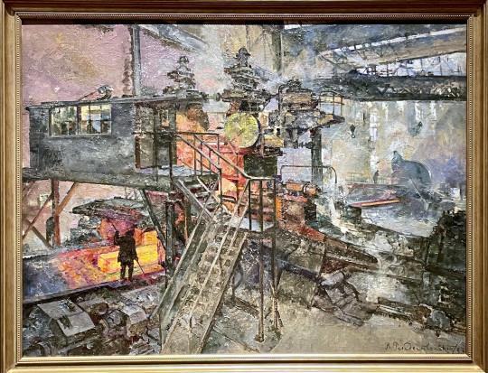 «Кузнецк. Прокатный цех. Блюминг» Василия Рождественского (1933).