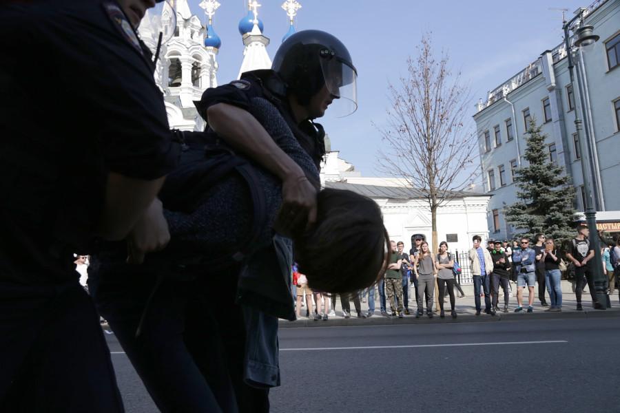Сборище Навального: фото