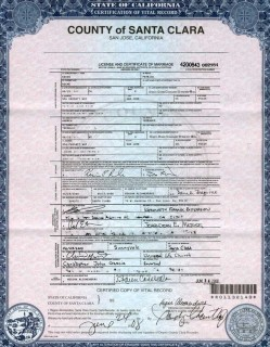 Marriage License/Certificate