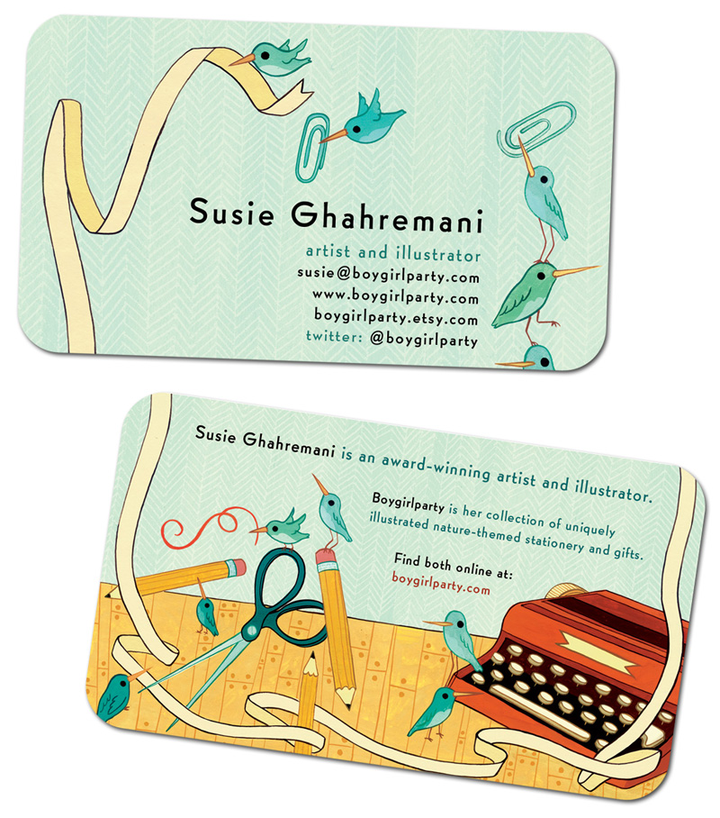 Susie Ghahremani business cards