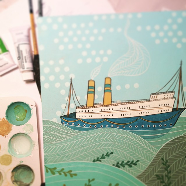 boat illustration by susie ghahremani / boygirlparty.com