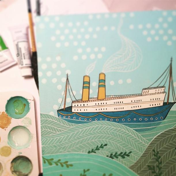 boat illustration by susie ghahremani / boygirlparty.com