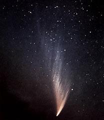 Комета, названная в честь астронома Ричарда Уэста, открывшего ее в 1975 году. Проходя возле Солнца, комета стала одной из самых ярких за последние несколько десятков лет. Фотография сделана в марте 1976 года. Фото из www.college.ru