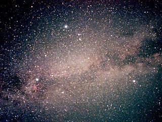 Млечный Путь за созвездием Летним треугольником
