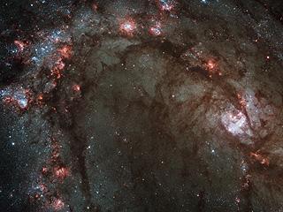 Центр M83 в обновленный космический телескоп