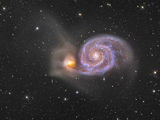 Глубокое изображение галактики Водоворот